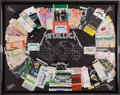 Music Memorabilia:Memorabilia, James Hetfield-Created Metallica Ticket Display, 1991-1993....