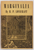 Books:Science Fiction & Fantasy, H. P. Lovecraft. Marginalia. Arkham House, 1944. Firstedition. Publisher's original cloth and dust jacket. Very...