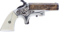 Handguns:Derringer, Palm, Factory Engraved Southerner Derringer by Merrimack Arms Mfg. Co....