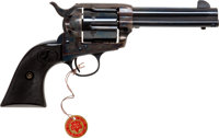 Exceptional and Rare Boxed Long-Fluted Colt Single Action Revolver together with Factory Letter