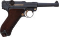 Handguns:Semiautomatic Pistol, Unit Marked German DWM Model P08 1910 Luger Semi-Automatic Pistol....