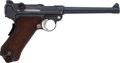Handguns:Semiautomatic Pistol, Altered German DWM Model 1906 Navy Luger Semi-Automatic Pistol....