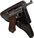Handguns:Semiautomatic Pistol, German Erfurt Reichsmarine Marked Model P08 Luger Semi-AutomaticPistol with Holster....