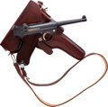 Handguns:Semiautomatic Pistol, Swiss Mauser Model 1906 Luger Semi-Automatic Pistol with Holster.. ...