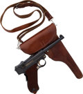 Long Guns:Semiautomatic, Swiss Commercial Model 1906 Luger Semi-Automatic Pistol with FineUnmarked Holster....