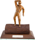 "Movie/TV Memorabilia:Awards, A George Marshall Award from ""Forest Rangers.""..."