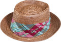 Golf Collectibles:Miscellaneous, Custom Straw Hat By Scala from The Sam Snead Collection....