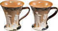 Golf Collectibles:Ceramics/Glass, Early 1900's Doulton Lambeth Love Cups Lot of 2. ...