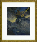 Prints:American, MAXFIELD PARRISH (American 1870 - 1966). The Errant Pan,1910. Period print on paper (Charles Scribner's Sons). 10.75 x ...