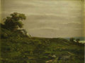 Fine Art - Painting, American:Modern  (1900 1949)  , AMERICAN SCHOOL. Landscape. Oil on paper. Unsigned. ...