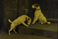 Fine Art - Painting, American:Other , JACOBS. Dogs, 19th Century. Oil on canvas. 24 x 36in..Signed lower right. From the collection of Richard and RitaChoui...