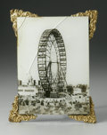 Photography :20th Century, AN EARLY PHOTOGRAPH. The early ferriswheel photograph with damaged, plexi fronting; the photograph significantly damaged, ...
