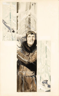 CECIL CALVERT BEALL (American 1892-1967) Untitled, c.1940 Watercolor on illustration board 19 x 10.5in. Signed upper cen...