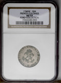 """Colonials: , 1746-W SOU M French Colonies Sou Marque AU53 NGC. Vlack-207, R.6.Breen-580, """"Extremely rare.""""..."""