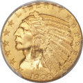 Indian Half Eagles, 1908 $5 MS66 PCGS....
