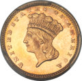 Gold Dollars, 1877 G$1 MS65 PCGS. CAC....