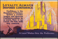 """Loyalty Always Inspires Confidence (Mather and Company, 1923). Motivational Poster (28"""" X 41.5""""). Miscellaneou..."""