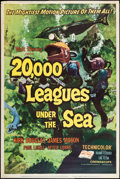 "Movie Posters:Science Fiction, 20,000 Leagues Under the Sea (Buena Vista, R-1963). Poster (40"" X60""). Science Fiction.. ..."