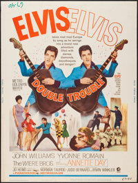 """Double Trouble (MGM, 1967). Poster (30"""" X 40""""). Elvis Presley"""