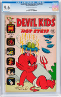 Bronze Age (1970-1979):Cartoon Character, Devil Kids Starring Hot Stuff #54 (Harvey, 1972) CGC NM+ 9.6Off-white to white pages....
