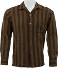 Music Memorabilia:Costumes, Buddy Holly Stage-Worn Dress Shirt....