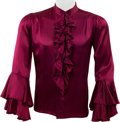 Music Memorabilia:Costumes, Jimi Hendrix Fancy Ruffled Shirt (c. 1968)....