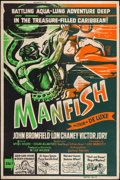 "Movie Posters:Adventure, Manfish (United Artists, 1956). Silk Screen Poster (40"" X 60"").Adventure.. ..."