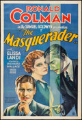 "Movie Posters:Drama, The Masquerader (United Artists, 1933). One Sheet (27"" X 40""). Drama.. ..."