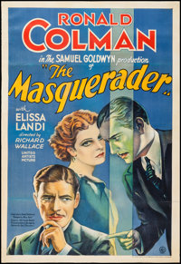 "The Masquerader (United Artists, 1933). One Sheet (27"" X 40""). Drama"