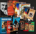 "Movie Posters:Adventure, Indiana Jones Lot (Paramount, 1981). Paperback Books (5) (VariousPages, Various Sizes), Commodore 64 Game (9.75"" X 9""), VHS...(Total: 12 Items)"