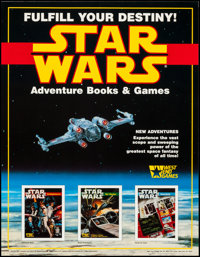 "Star Wars: The Roleplaying Game (West End Games, 1987). Poster (17"" X 22""). Science Fiction"