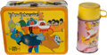 Music Memorabilia:Toys, Beatles Yellow Submarine Lunch Box and Thermos....