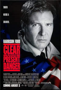 """Clear and Present Danger & Others Lot (Paramount, 1994). One Sheets (4) (27"""" X 40"""") SS & DS, R..."""