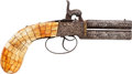 Handguns:Muzzle loading, Persian Engraved Over & Under Double Barrel PercussionPistol....