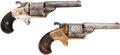 Handguns:Single Action Revolver, Lot of Two Engraved Moore's Pat. Firearms Front LoadingRevolvers.... (Total: 2 Items)