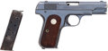 Handguns:Semiautomatic Pistol, Colt Model 1903 Pocket Hammerless Semi-Automatic Pistol....