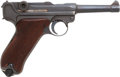 Handguns:Semiautomatic Pistol, German DWM Model P08 1918 Luger Semi-Automatic Pistol....