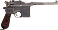 Handguns:Semiautomatic Pistol, German Mauser Model 1896 Broomhandle Big Red 9 Semi-AutomaticPistol....