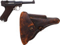 Handguns:Semiautomatic Pistol, German DWM P08 Luger Semi-Automatic Pistol with Holster....