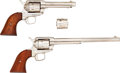 Handguns:Single Action Revolver, Cased Colt Single Action Frontier Scout and Single Action Buntline Scout Revolvers.... (Total: 2 Items)