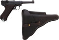 Handguns:Semiautomatic Pistol, German DWM Model P08 1914 Luger Semi-Automatic Pistol with Leather Holster....