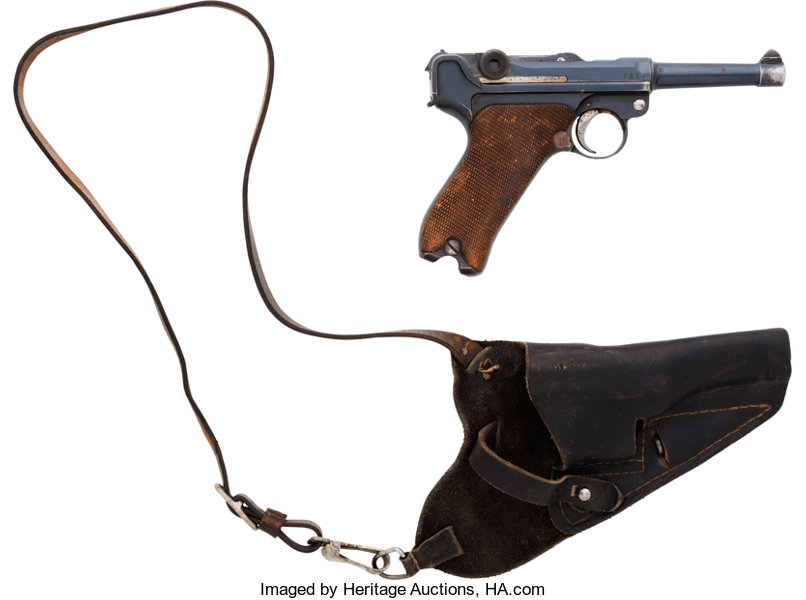 German Erfurt Model P08 1912 Luger Automatic Pistol with