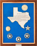 Miscellaneous:Booklets, Framed Collection of Texas Rangers Commemorative Law EnforcementBadges....