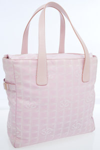 Chanel Light Pink Monogram Canvas Sport Collection Large Tote Bag