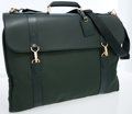 Luxury Accessories:Accessories, Louis Vuitton Hunter Green Taiga Leather Garment Bag. ...