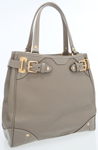 Louis Vuitton Taupe Suhali Leather Le Majestueux Tote Bag with Gold Stud Detail