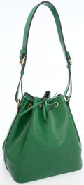 Luxury Accessories:Bags, Louis Vuitton Green Epi Leather Noe NM Bag. ...