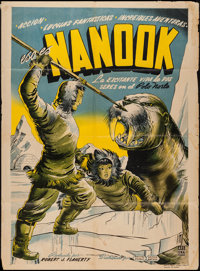 "Nanook of the North (United Artists, R-1940s). Mexican One Sheet (27"" X 37""). Documentary"