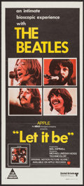 "Movie Posters:Rock and Roll, Let It Be (United Artists, 1970). Australian Daybill (13.5"" X 30"").Rock and Roll.. ..."