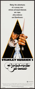 "Movie Posters:Science Fiction, A Clockwork Orange (Warner Brothers, 1971). Insert (14"" X 36"")X-Rated Style. Science Fiction.. ..."